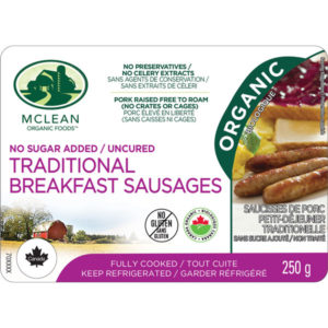 McLean Meats - Organic Traditional Pork Breakfast Sausages
